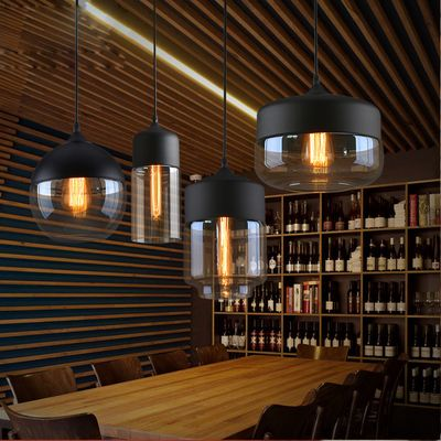 Loft vintage pendant light art glass blackwhitegray lampshade loft vintage pendant light art glass blackwhitegray lampshade kitchen hanging lamp glass aloadofball Choice Image
