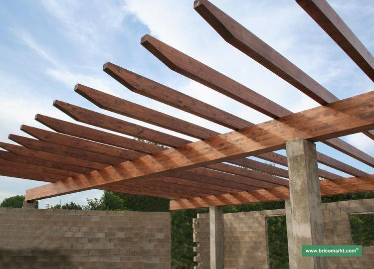 Columna techo viga de madera buscar con google techos for Techos de madera para patios
