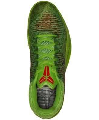 huge selection of 2c691 55120 Nike Men s Kobe Mamba Rage Basketball Sneakers from Finish Line - Green 11.5
