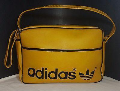 2cbb2cc3d9 Vintage 1970 s - 80 s adidas Yellow Black Carry-On Gym Bag w  Adjustable  Strap