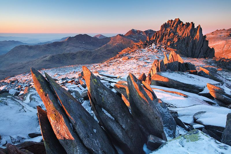 The 'Castle fo the Wind' on the Glyder ridge in Snowdonia, Wales