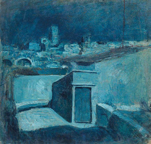 Pablo Picasso,I tetti di Barcellona, 1902,Olio su tela,cm 58,5x60,8, Barcellona,Museu Picasso,Dono dell'artista,1970.