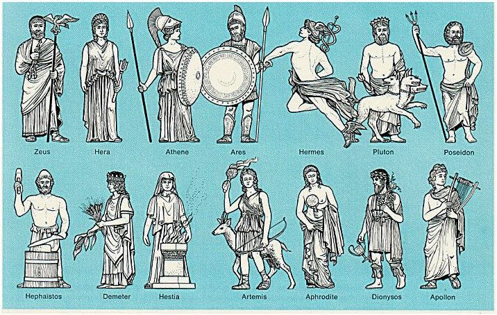 Image result for greek gods