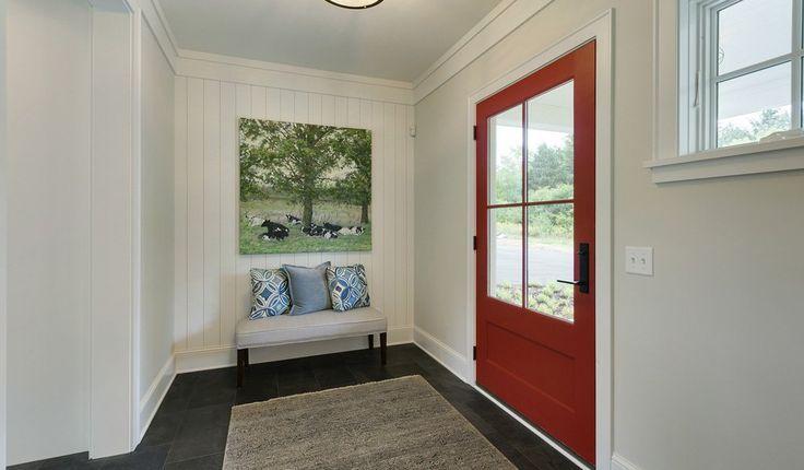 Fox Run | Hagstrom Builder | #frontdoor #reddoor #entry #frontporch