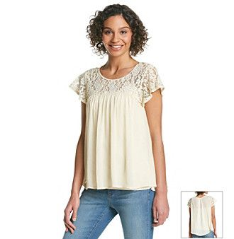 Taylor & Sage™ Flutter Sleeve Top  at www.younkers.com