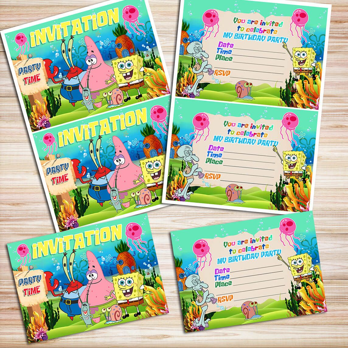 Spongebob Party DIY Invitations is a great way to impress guests and ...