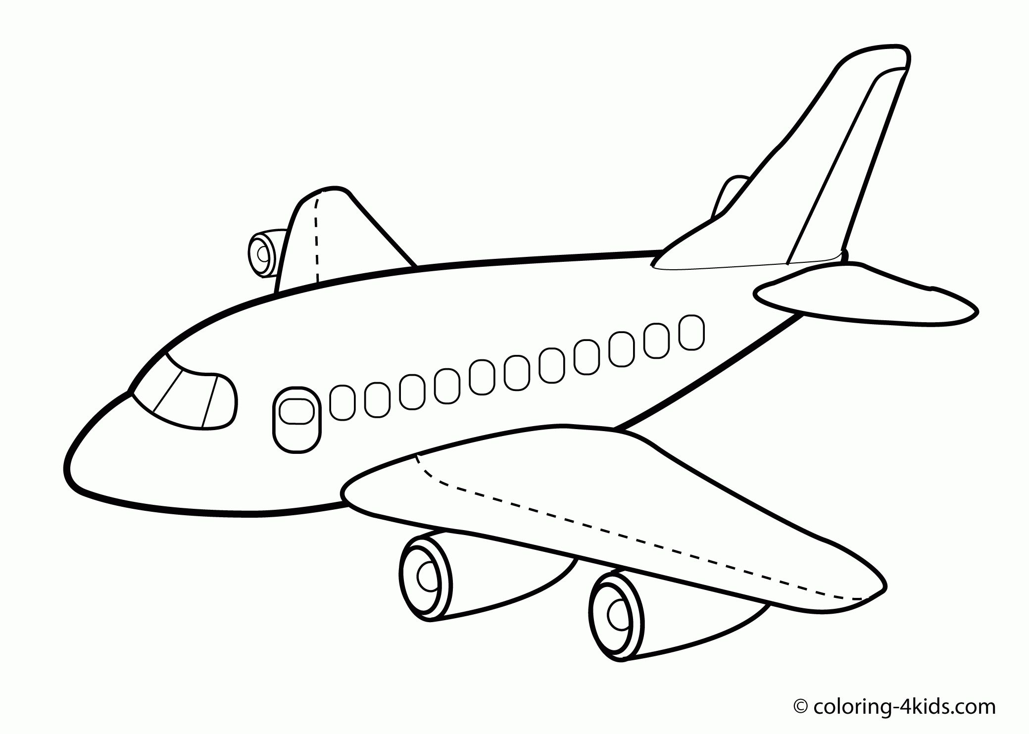 Largest Airplane Pictures To Color A Is For Coloring Page