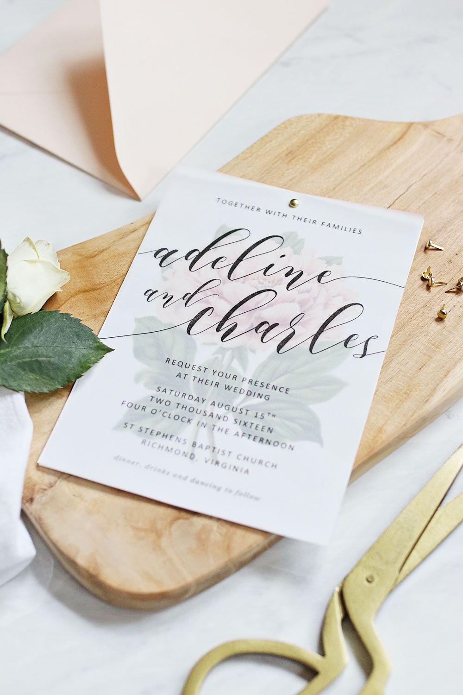 Peony wedding invitations diy printable wedding stationery peony wedding invitations diy monicamarmolfo Image collections