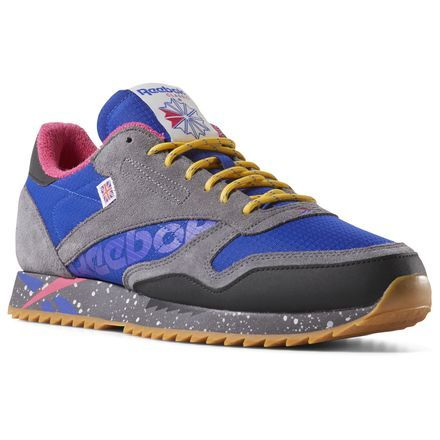 e35695c9187 Reebok Unisex Classic Leather Ripple Altered in Ash Grey   Pink   Gold    Purple Size 6.5 - Retro Running Shoes