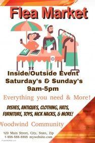 flea market free poster templates pinterest