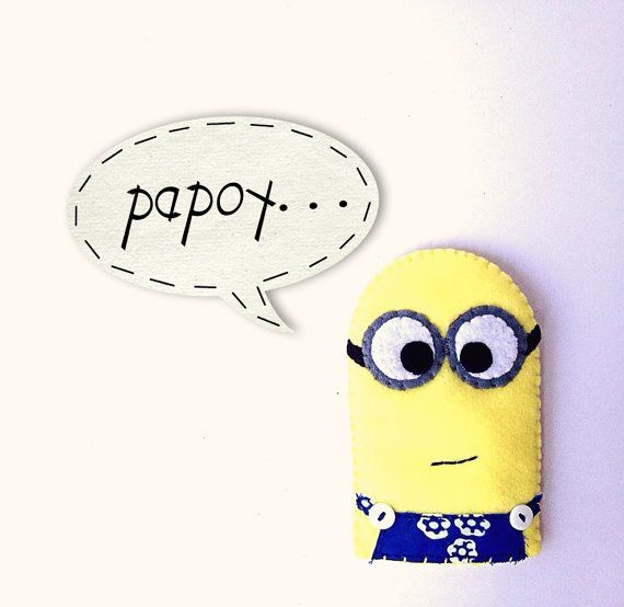Despicable Me - Minions, Felt craft with Indonesia batik fabric ...