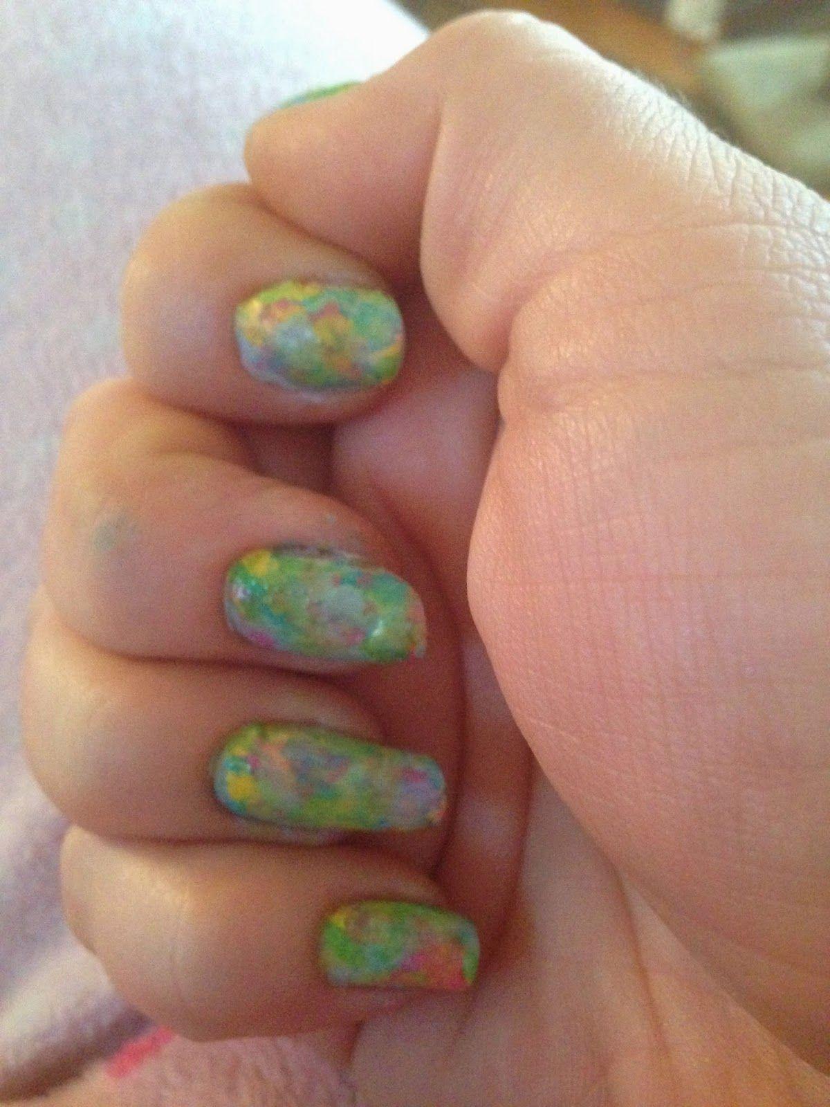 Splatter Nails No Tools Beauty Under 10 Pinterest Splatter