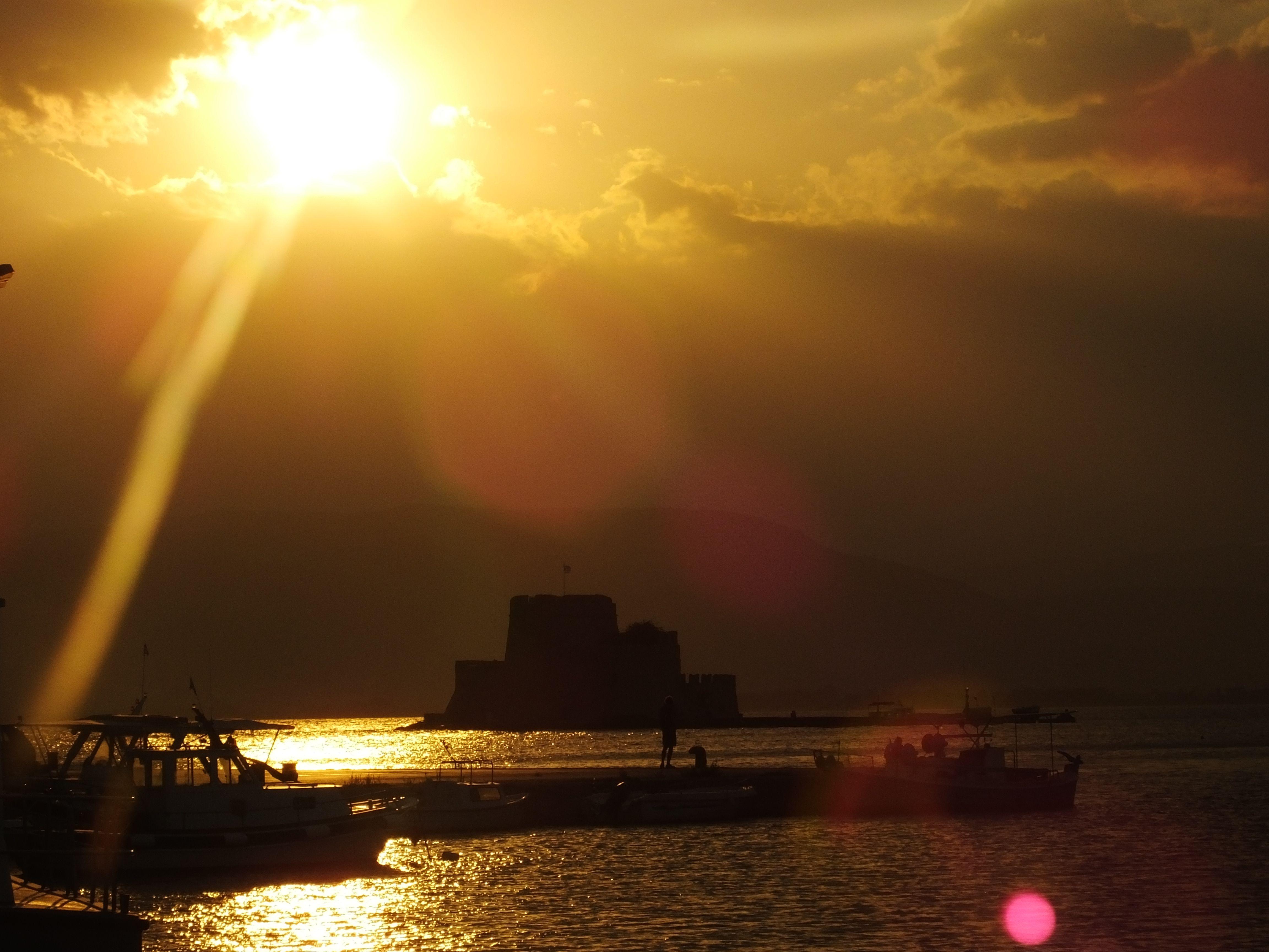 Bourtzi Castle sunset