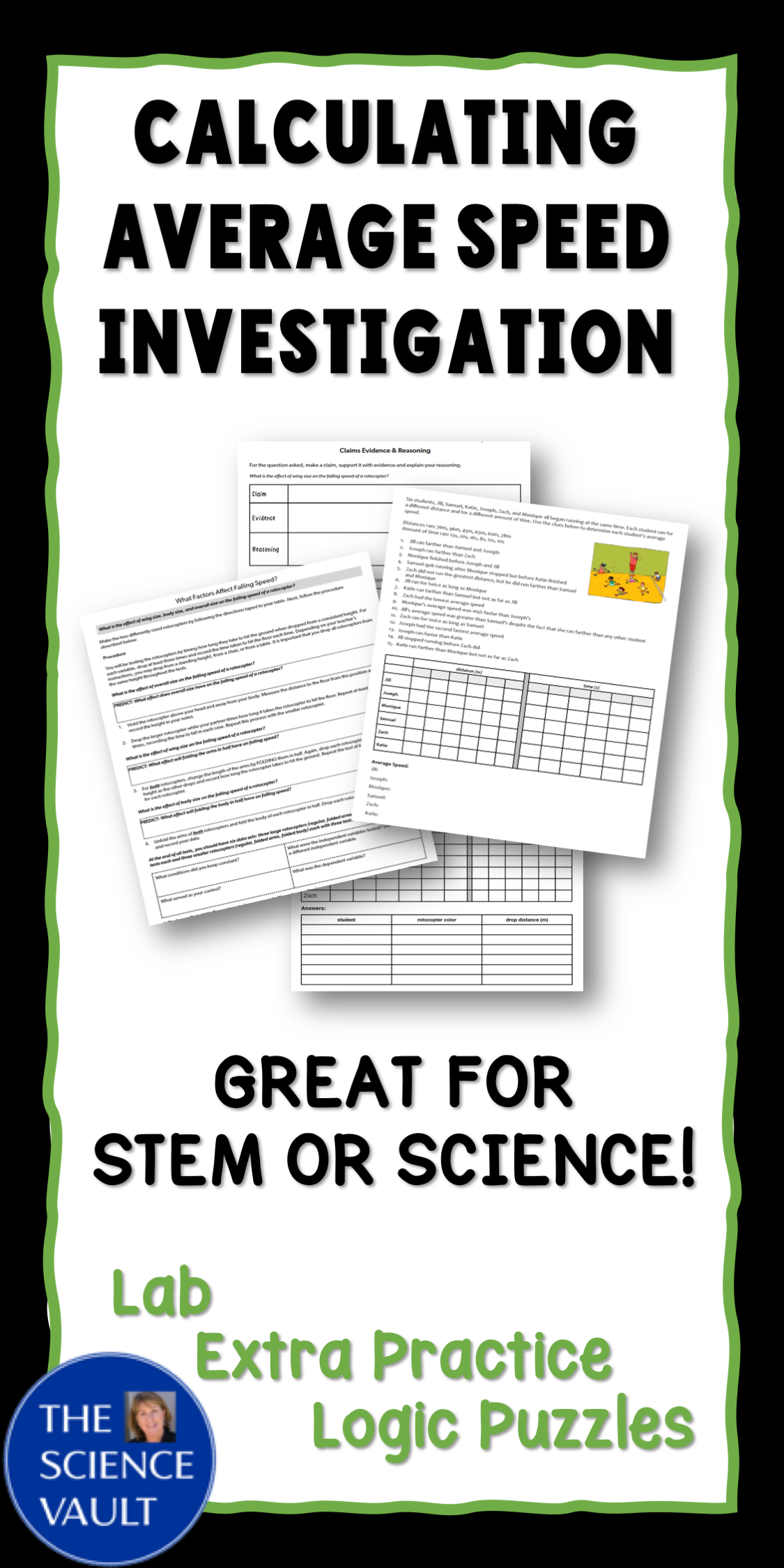 Calculating Average Speed Lab Great For Science And Stem