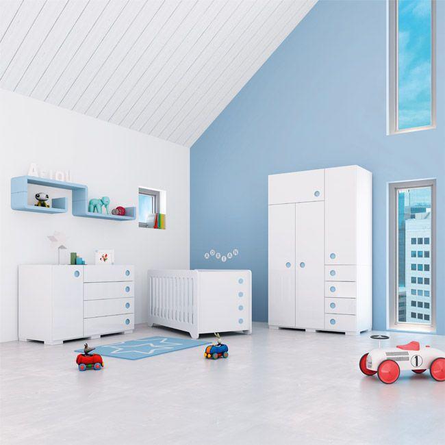 Habitaciones infantiles con encanto en color celeste para bebés ...