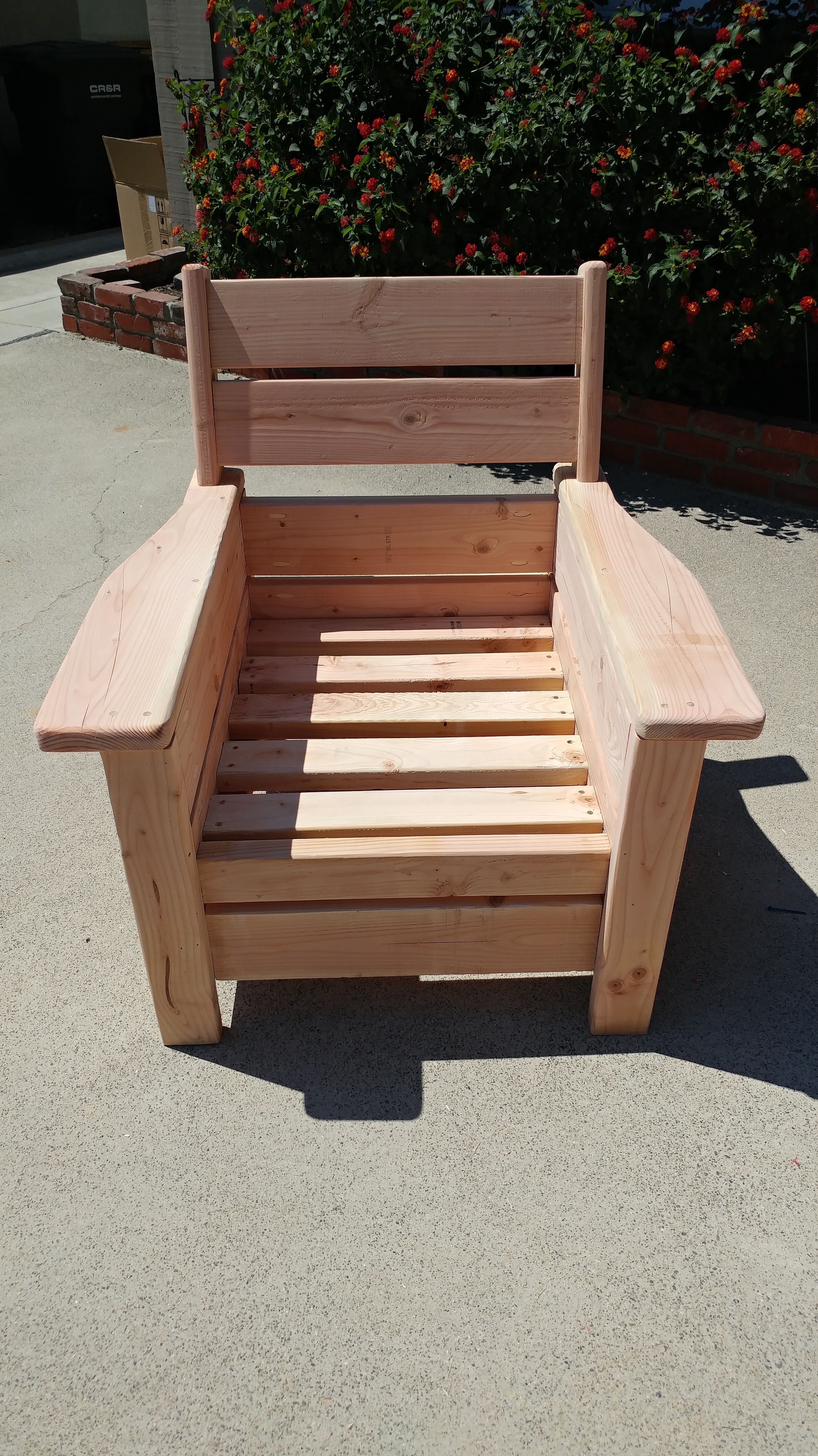 Ana White Modern Outdoor Chair With A Twist Diy Projects In