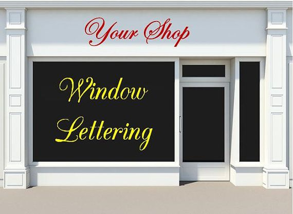 Custom Storefront Window Decals Business Shop Signs Company - Window decal custom vinyl