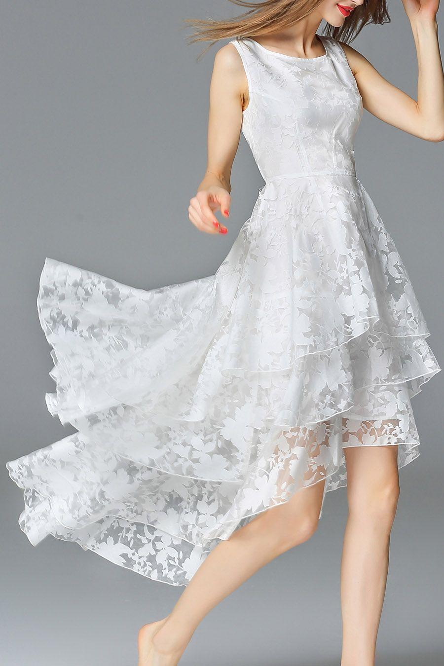 Asymmetric Layered Midi Dress Designer Dresses Online White Bridesmaid Dresses Shop Designer Dresses [ 1350 x 900 Pixel ]