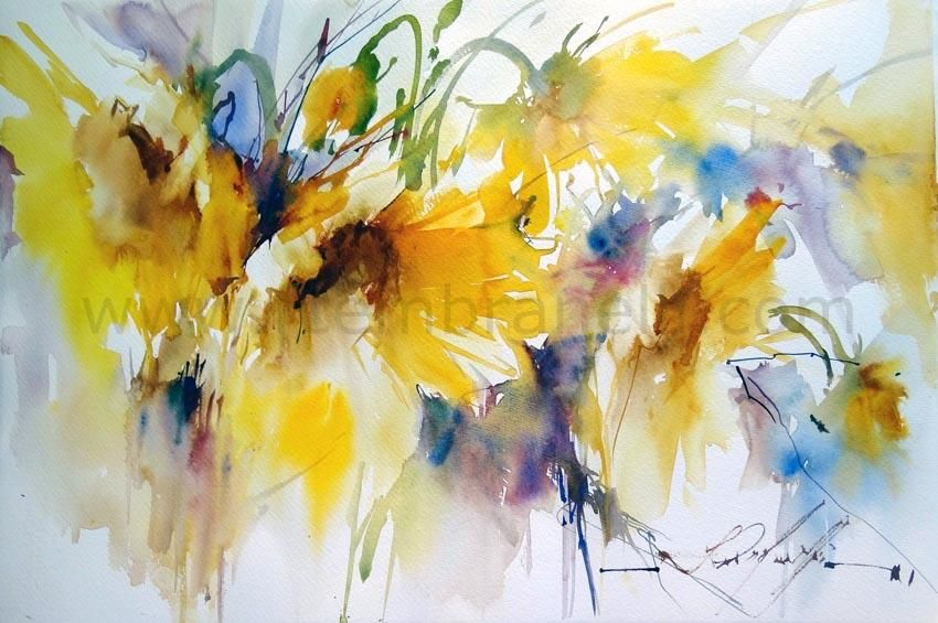 Watercolor Gallery Fabio Cembranelli Flower Painting Floral