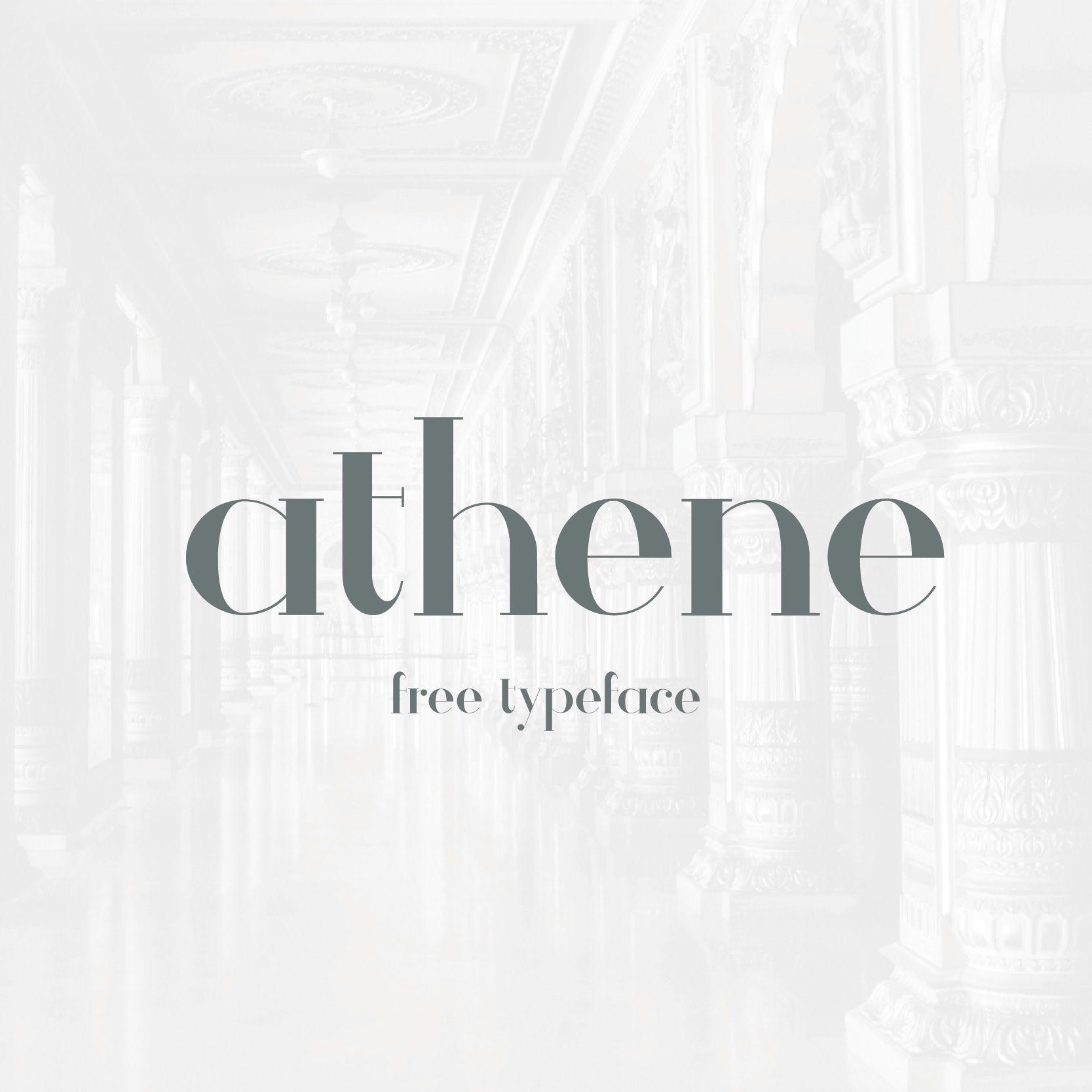 다음 @Behance 프로젝트 확인: \u201cAthene || Free Typeface\u201d https://www.behance.net/gallery/28205213/Athene-Free-Typeface