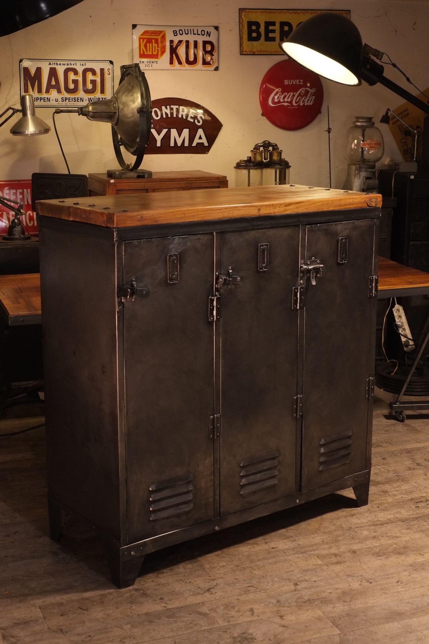 vestiaire ancien recoupe deco loft meuble industriel