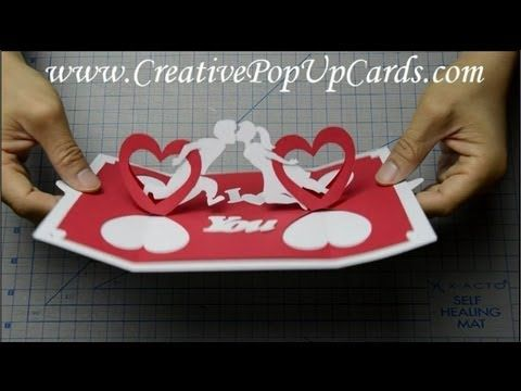 How To Make A Valentines Day Pop Up Card Twisting Hearts Valentine Cards Handmade Heart Pop Up Card Paper Crafts Diy Kids