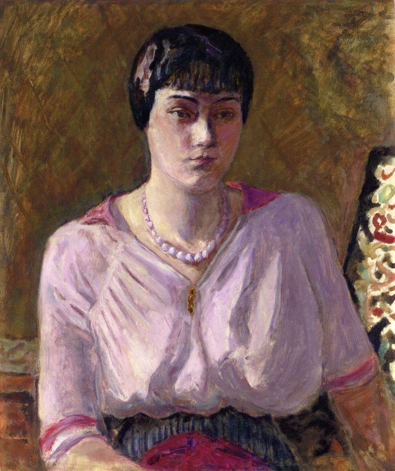 Portrait of a girl, Mademoiselle Renee Terrasse, 1916  Pierre Bonnard