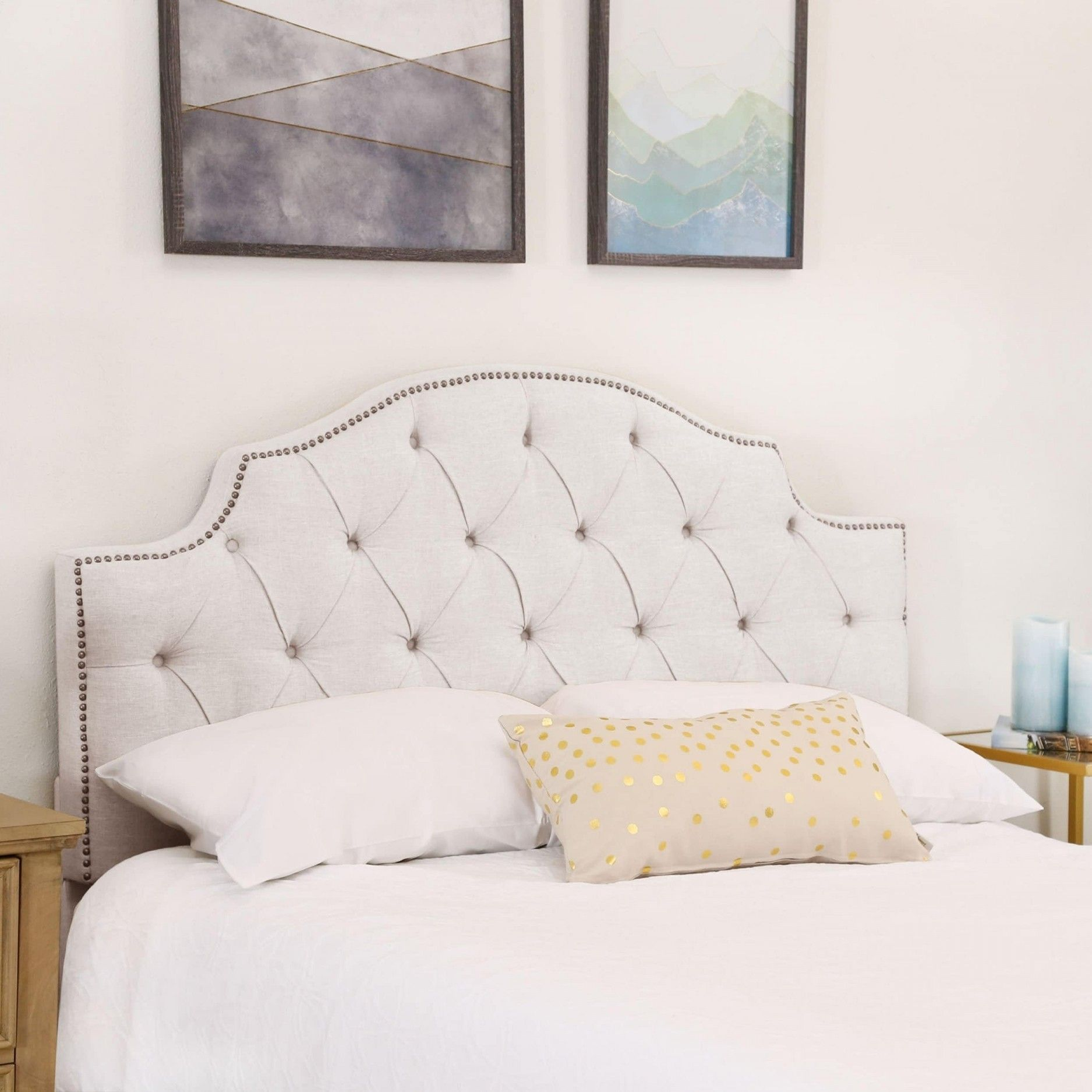 Elegant White Headboard In 2020 White Headboard Bed Linen