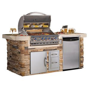 Cal Flame Pv6014 Bbq Grill Island Outdoor Bbq Kitchen Bbq Island Outdoor Kitchen Patio