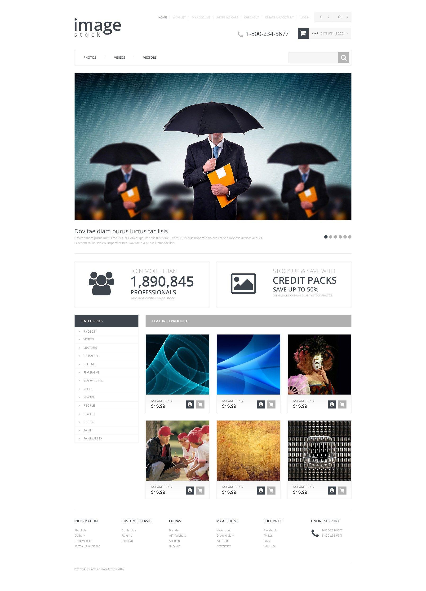 Photostock Photo Stock Photography Webdesign For Opencart Template
