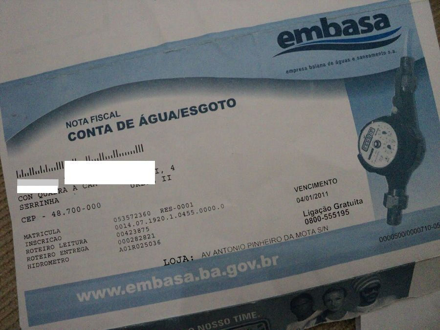 Aumento das tarifas de água e esgoto na Bahia passa a valer no sábado