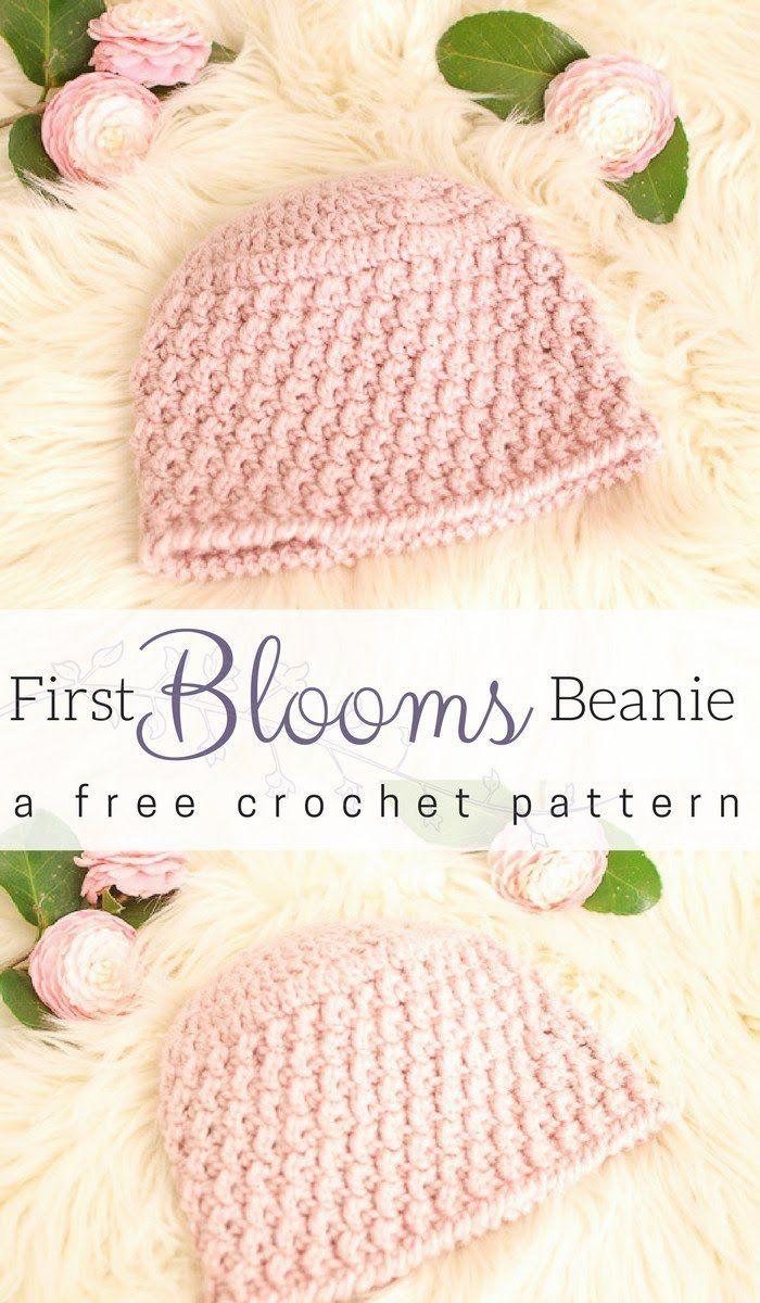 Textured Crochet Hat Pattern - First Blooms Beanie | Beanie ...