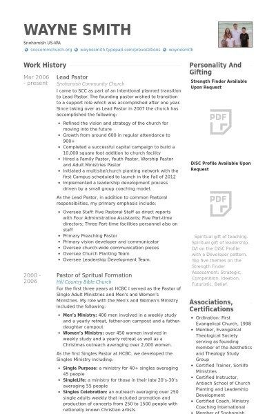 awesome lead pastor resume template collection new senior