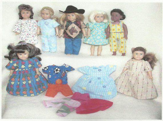8fb5e7160 Doll Clothes Pattern fits American Girl Mini Dolls 6.5 6 1/2 inch ...