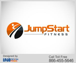 Jump Start Fitness Icon Indicates A Person Exercising Over A Jogging Track And Also Shows A Great Blend Of Orange And Fitness Design Fitness Logo Fitness Icon