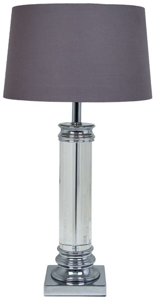 Rv Astley Nickel And Crystal Table Lamp Base Only R V Astley