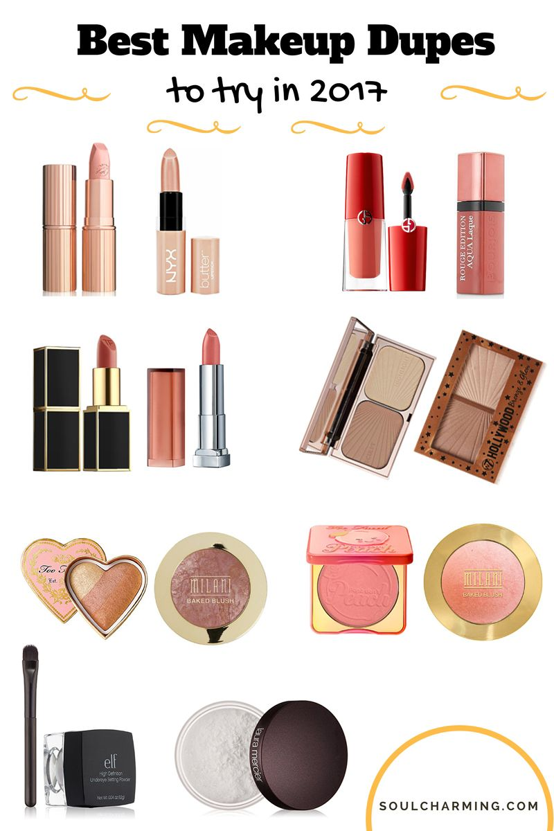 The Best Drugstore Makeup Dupes For High End Expensive Lipsticks Lipglosses Powders Blushes And Hi Makeup Dupes Best Drugstore Makeup Drugstore Makeup Dupes