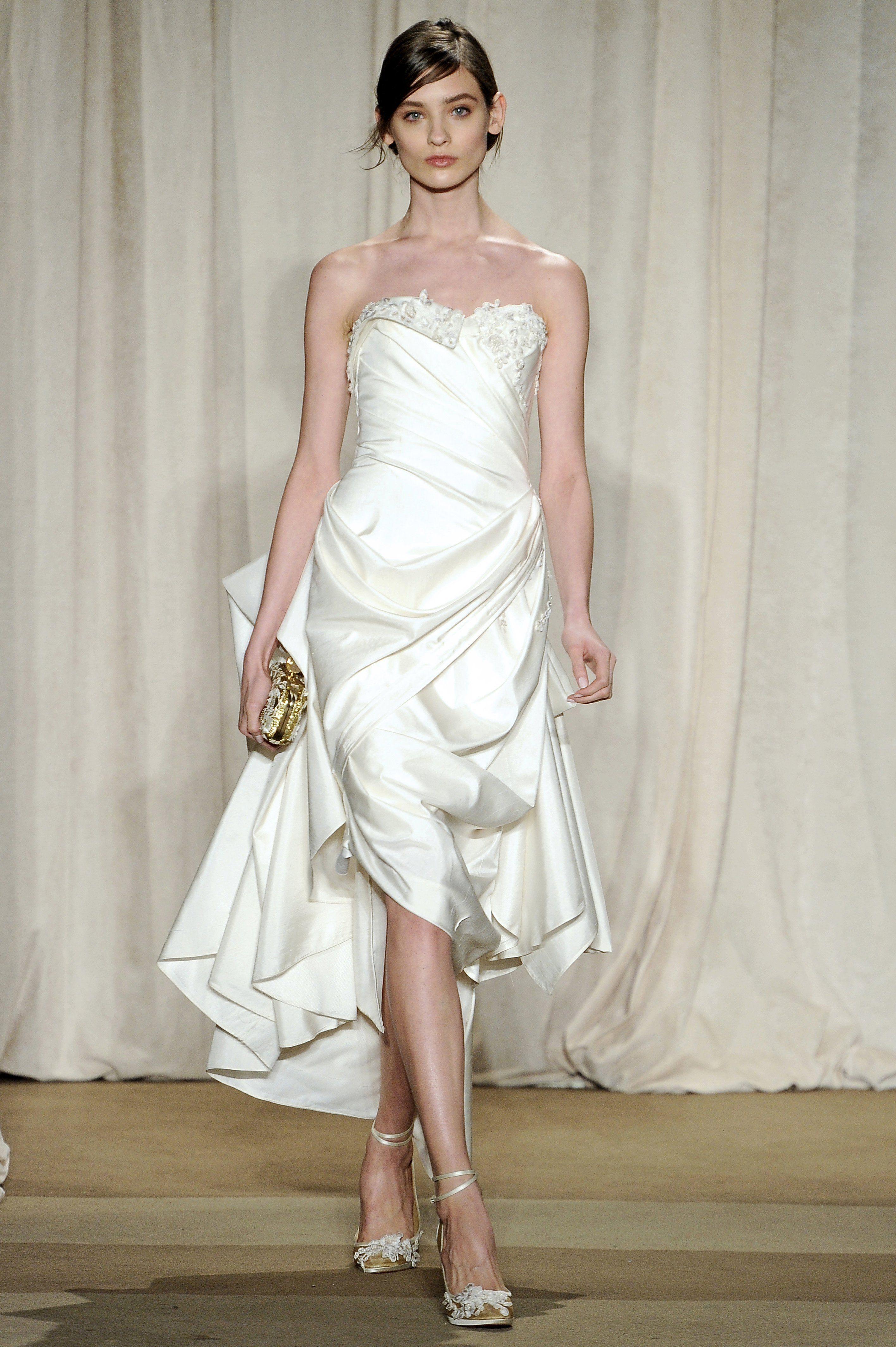 Raw silk wedding dress  Look   Marchesa Fall   Pinterest  Marchesa Beautiful gowns