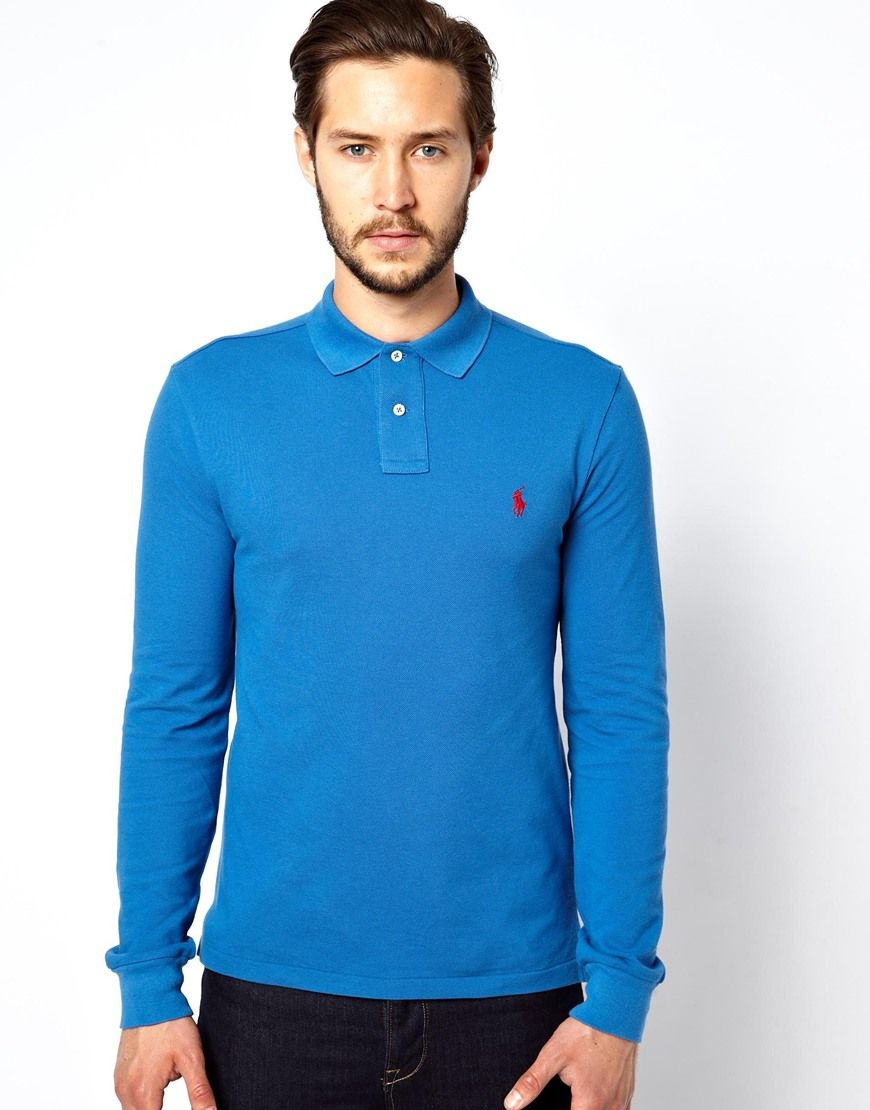 Polo Ralph Lauren Long Sleeve Polo Shirt In Slim Fit A Well