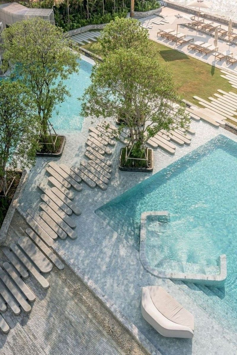 78 Cozy Swimming Pool Garden Design Ideas On A Budget | Pool Landscape Design, Landscape Architecture Design, Swimming Pool Architecture