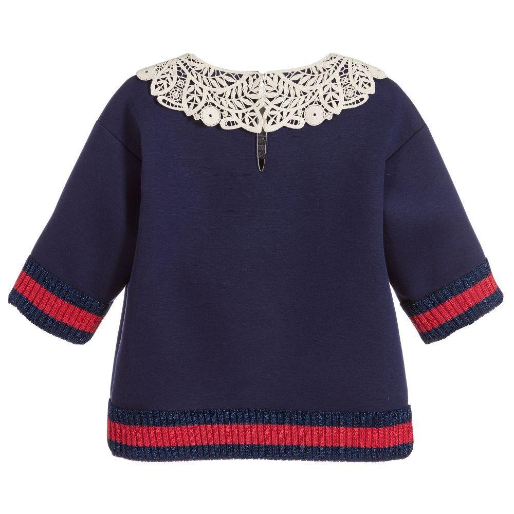 e8b03ecbe32b2 Gucci - Girls Blue Neoprene Sweatshirt