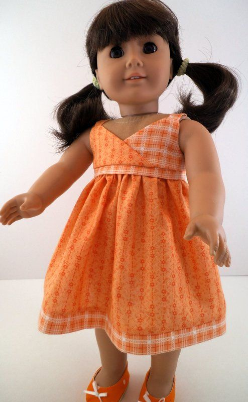 American Girl Orange Sundress. $18.00, via Etsy.
