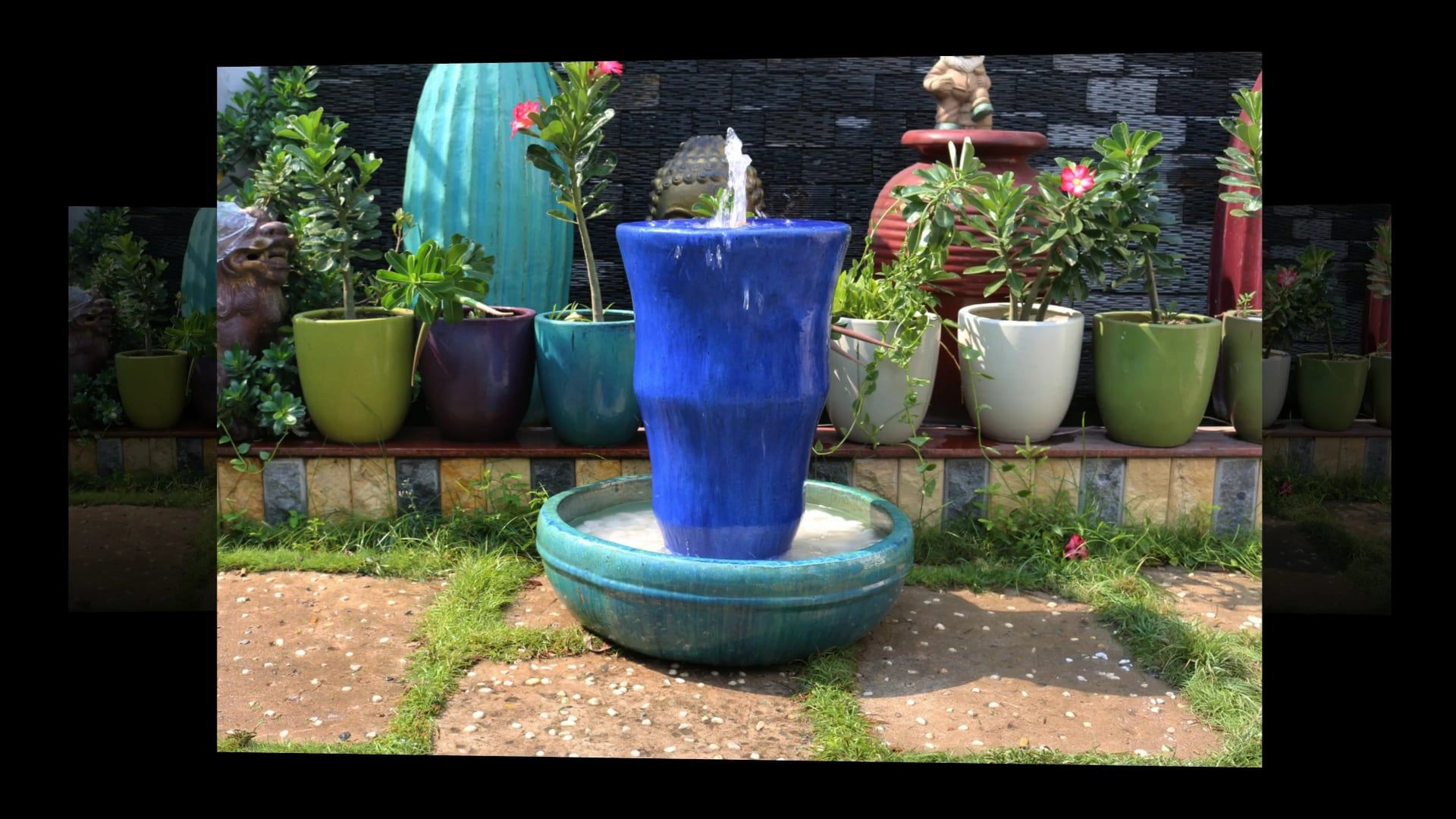 Beautiful Pottery Fountains Garden