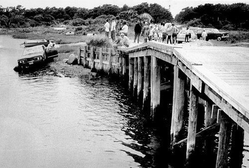 July 18,1969 –After a party Senator Ted Kennedy drives his car off a bridge & his passenger, Mary Jo Kopechne, dies.