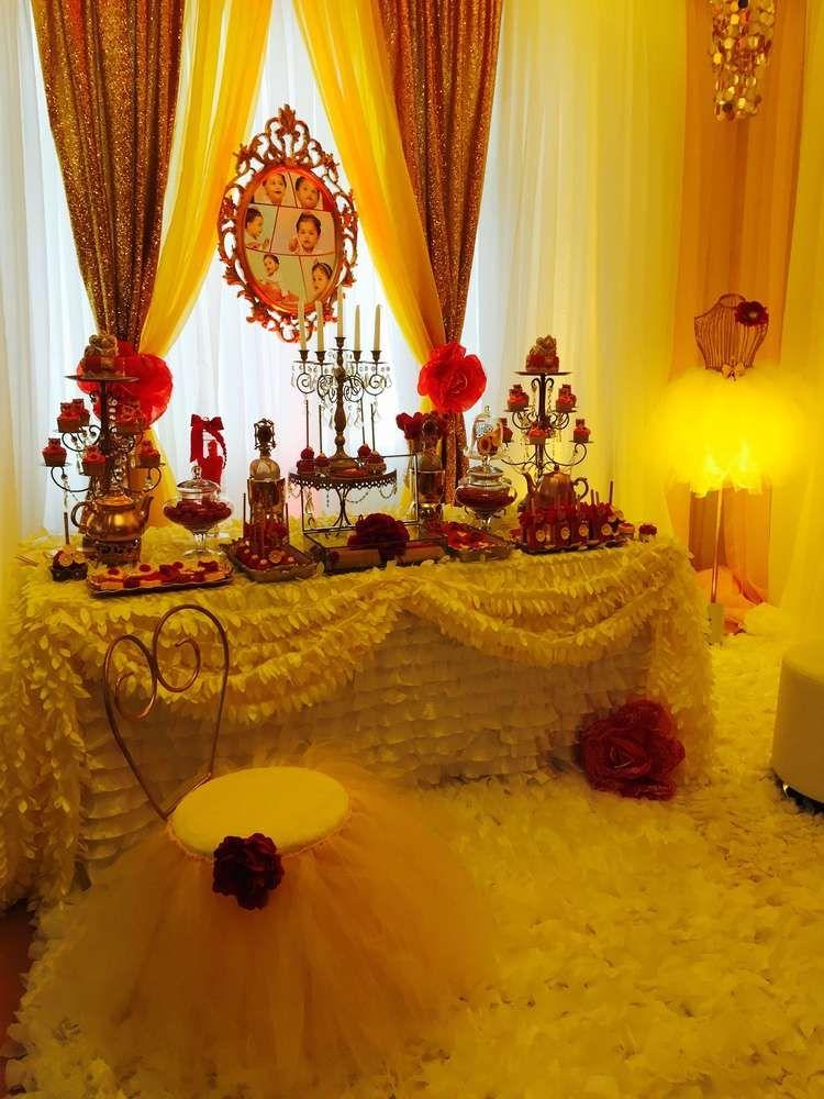 Princess bell birthday party ideas la bestia bella y for Idea de decoracion