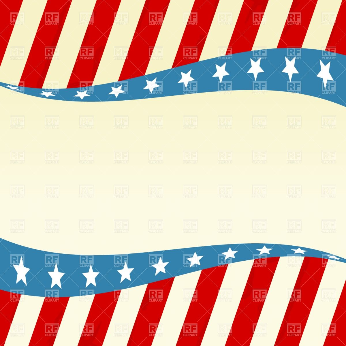 Patriotic Wave With Stars And Red White Blue Vector Image Vector