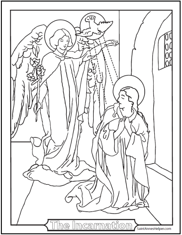 40 Rosary Coloring Pages Joyful Sorrowful And Glorious Mysteries Angel Coloring Pages Coloring Pages Catholic Coloring Books