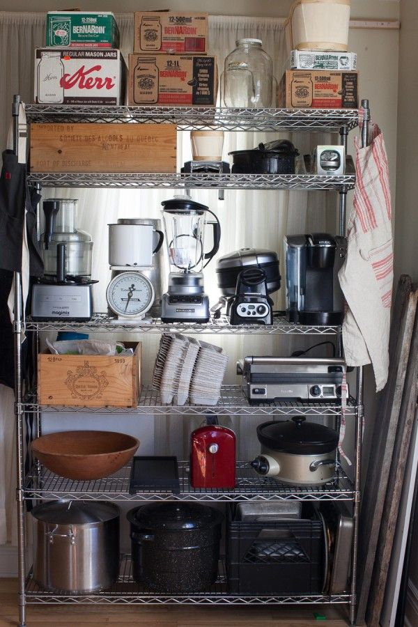 delightful Kitchen Appliance Shelf #5: 1000+ images about Kitchen Storage Solutions on Pinterest | Coffee carts,  Pot lids and Barn wood shelves