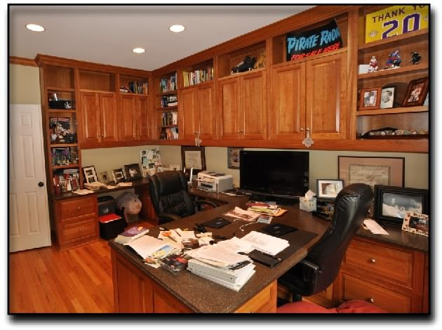custom built in home office in McLean Virginia Craft Rooms and