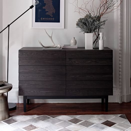 Louvered 6 Drawer Dresser West Elm The Matching Chest Of Drawers To Update Mater Bedroom Modern Bedroom Dressers Furniture Bedroom Furniture